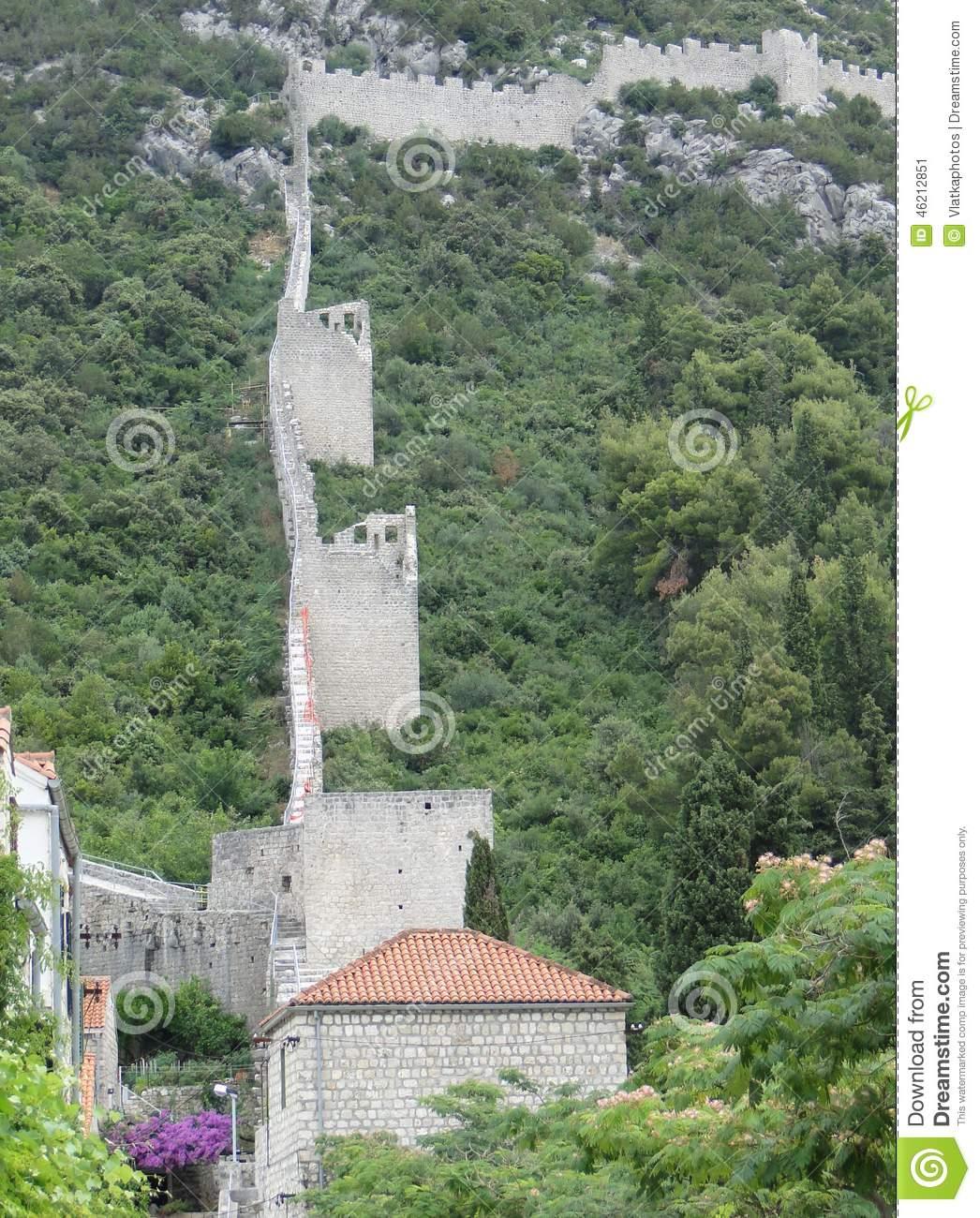 Walls Of Ston, Croatia Stock Photo.