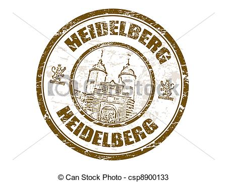 Vectors of Heidelberg stamp.