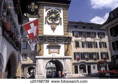 Stock Photograph of Switzerland, Fribourg, Murten/Morat, The Bern.