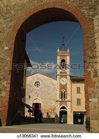 Stock Photography of San Quirico d'Orcia, Tuscany, Italy, Toscana.