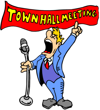 Town Hall Meeting Clipart.