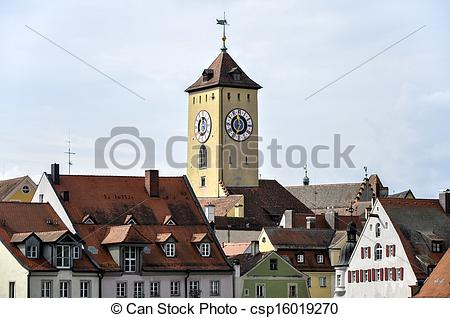 Picture of Regensburg (Germany) Old town hall.