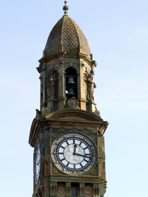 File:Town Hall clock and belfry.