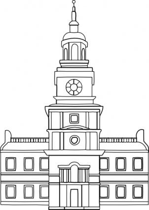 Town council building clipart.