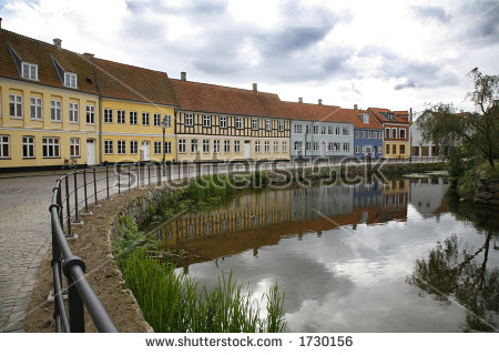 Danish Town Stock Photos, Royalty.