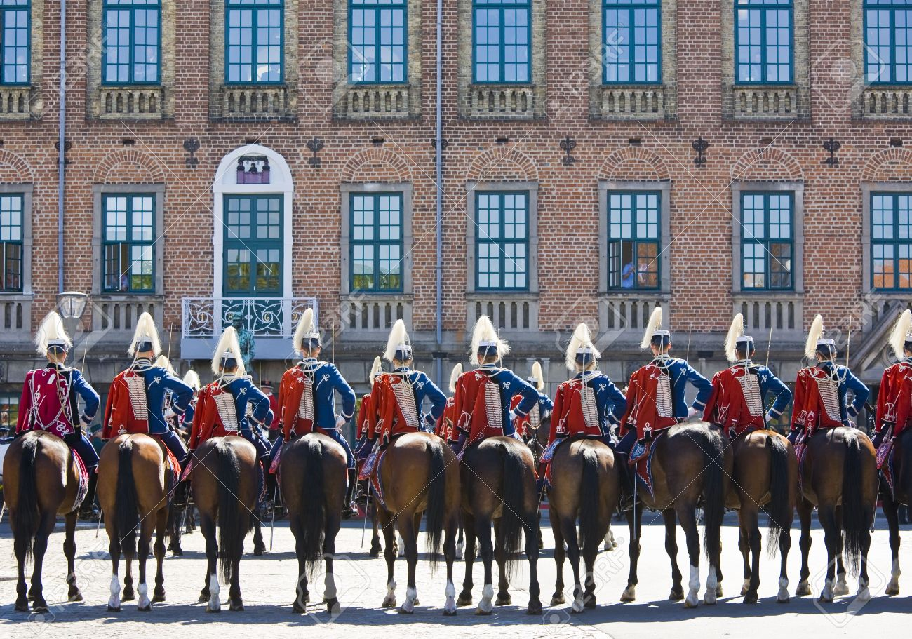 HM Queen Margrethe Of Denmark Arrives To The Town Hall Of Nyborg.