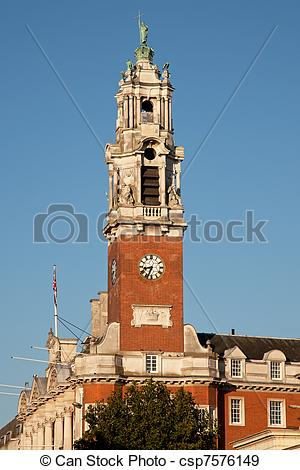 Stock Photographs of Town Hall Tower.
