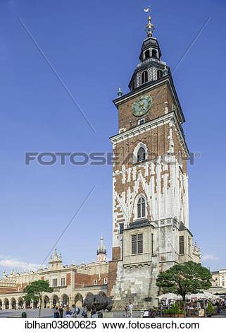 "Stock Image of ""Town Hall Tower, Stare Miasto old town, Krakow."