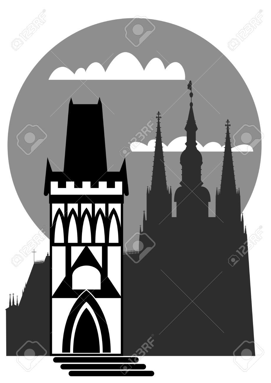 Famous Landmarks Of Prague.