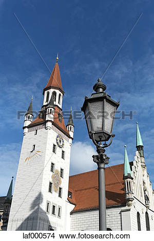 Stock Photo of Germany, Bavaria, Munich, Old city hall, Toy Museum.