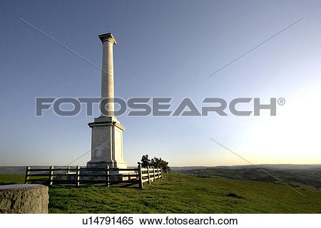 Stock Image of Wales, Montgomeryshire, Town hill, A view of Town.