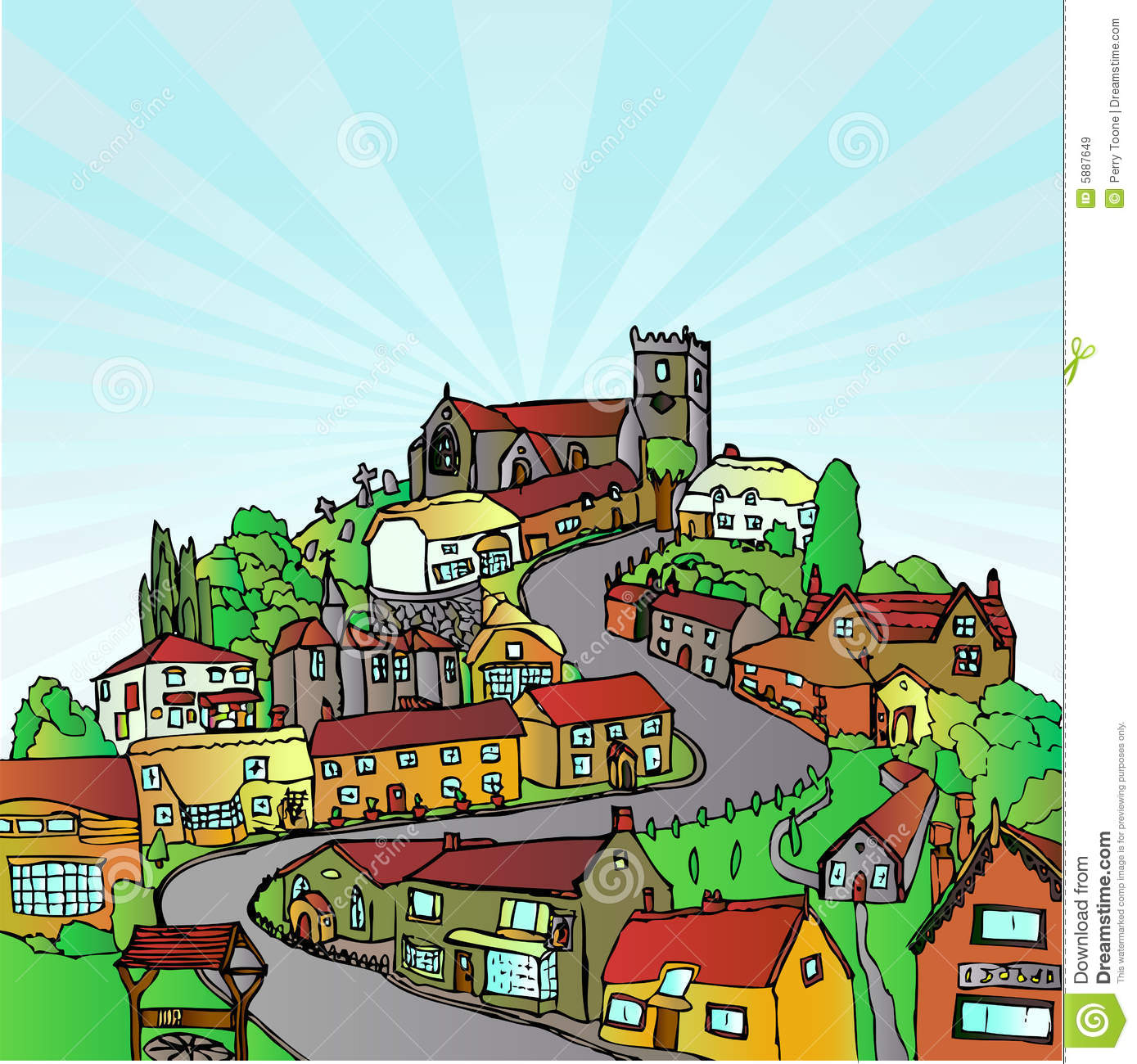 City On A Hill Clipart.