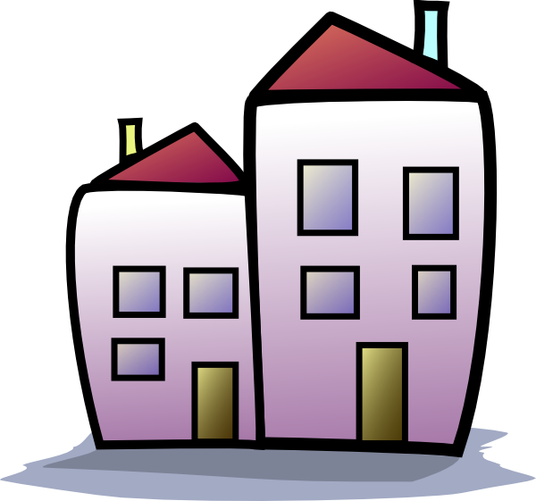 Townhouse Clipart.