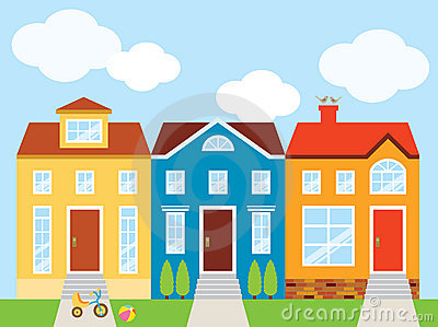 Townhouse Stock Illustrations.