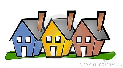 Row Houses Clip Art House Stock Photos, Images, & Pictures.