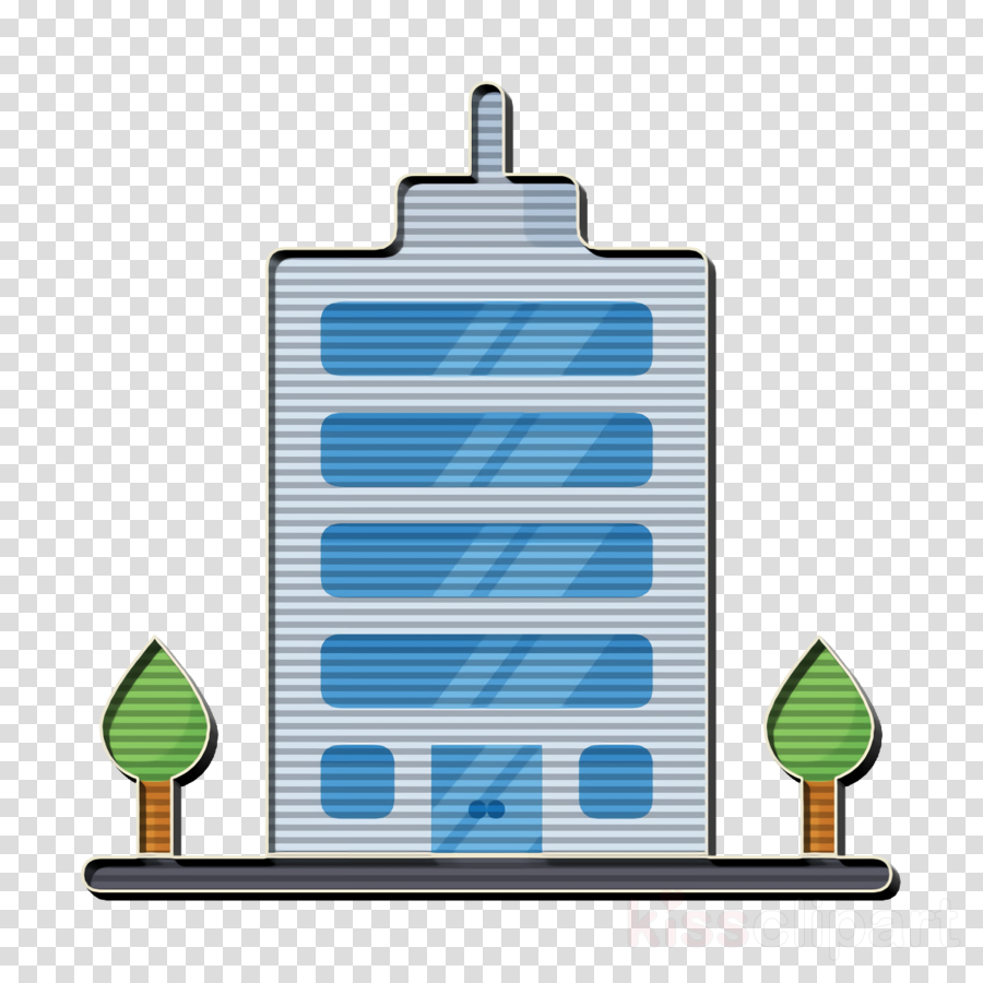 Town icon Office icon Startup icon clipart.