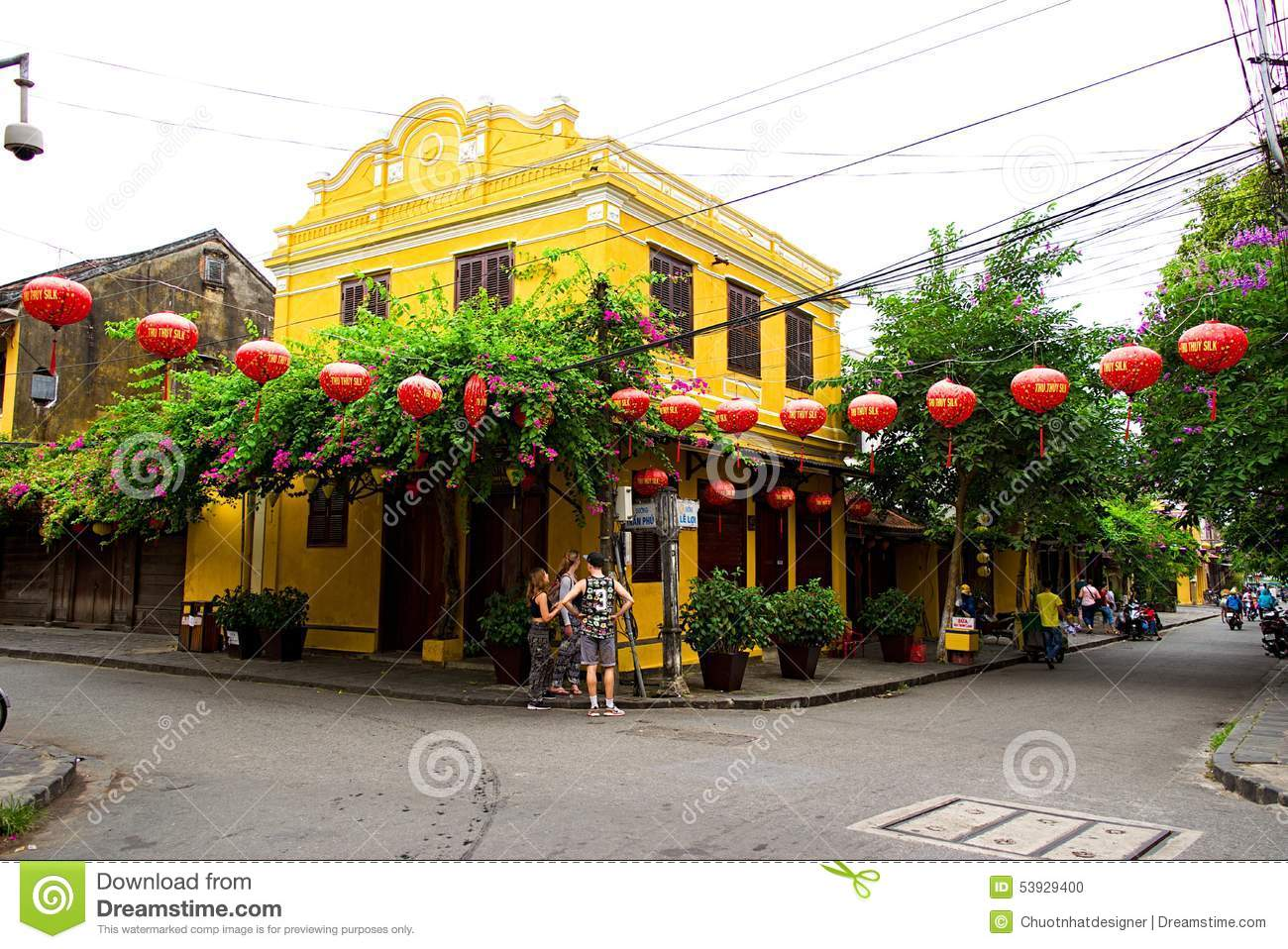 Hoi An Ancient Town In Early Morning Sunshine, Quang Nam, Vietnam.