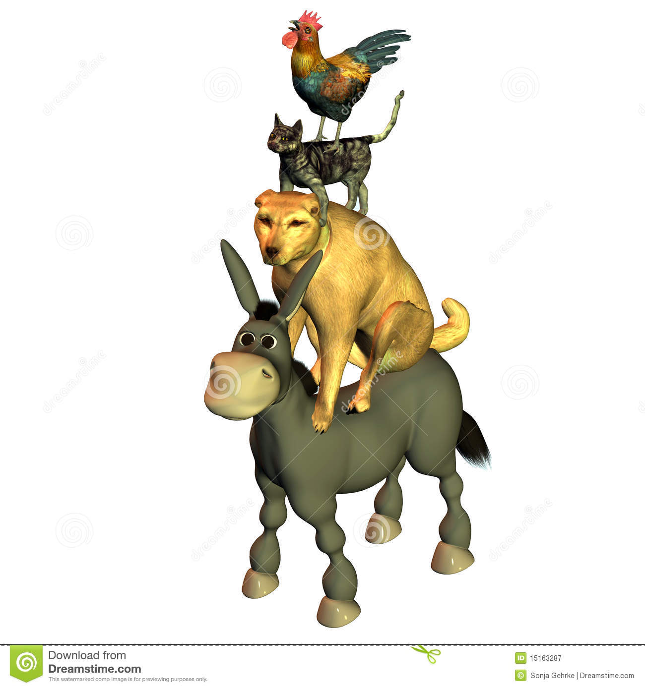 Of Bremen Town Musicians Royalty Free Stock Photography.