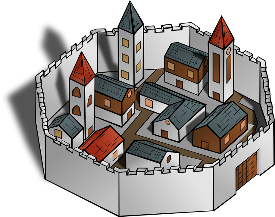 Free vector graphic: City, Wall, Buildings, Architecture.