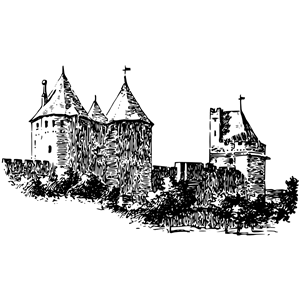 Carcassonne wall clipart, cliparts of Carcassonne wall free.