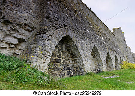 Picture of Town wall, old defence construction.