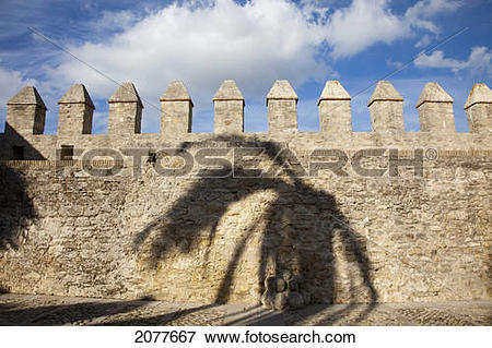 Picture of Town wall; vejer de la frontera andalusia spain 2077667.