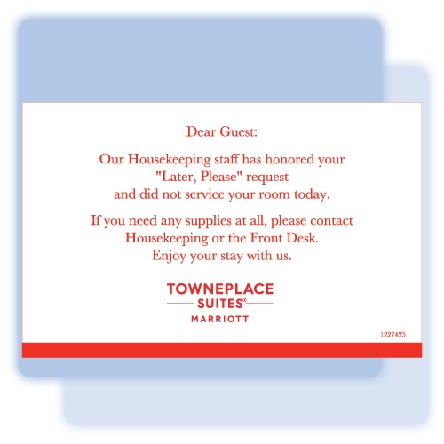 TownePlace Suites No Service flat card, #1227425.