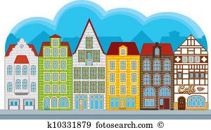 Townhouses Clipart Illustrations. 4,795 townhouses clip art vector.