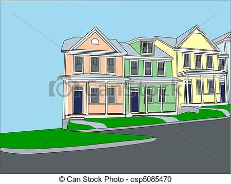 Townhouses Illustrations and Clipart. 5,887 Townhouses royalty.