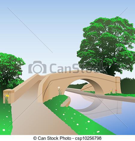 EPS Vectors of Canal Bridge.