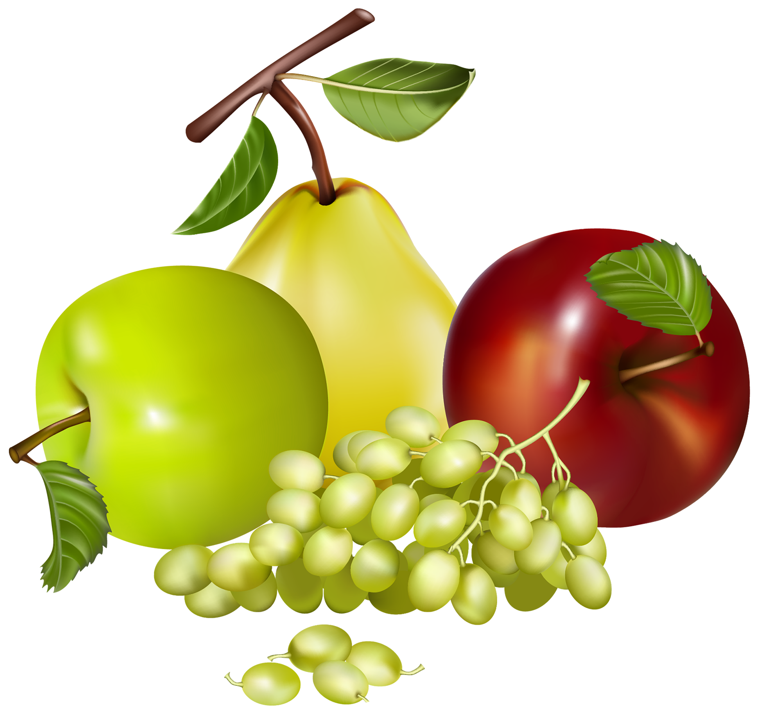 Mixed Fruits PNG Clipart.