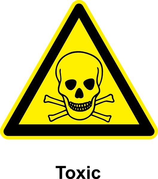 Sign Toxic clip art Free vector in Open office drawing svg.