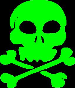 Skull Green clip art.