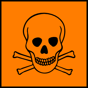 Hazard Sign clip art.