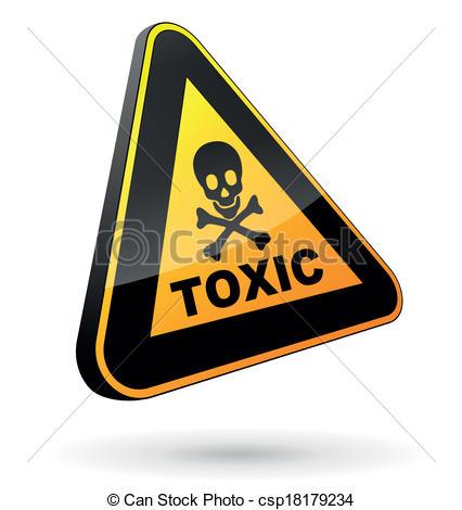 Vectors of toxic sign 3d.