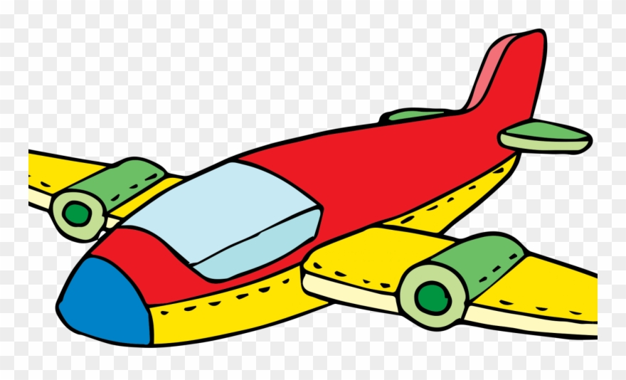 Airplane Clipart Colorful.