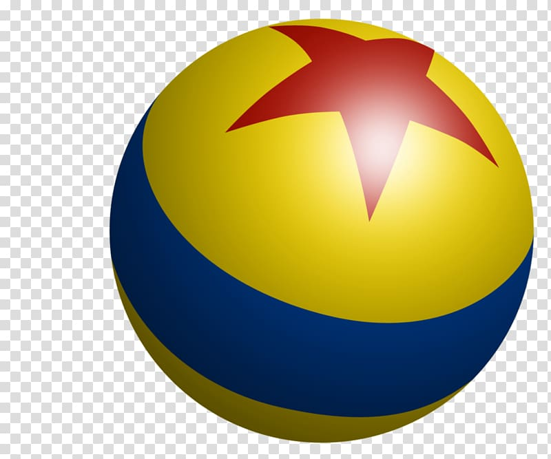 Blue, red, and yellow ball with star illustration, Pixar Toy.