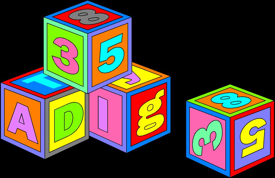 Free Stock Photo: Illustration of colorful toy blocks.