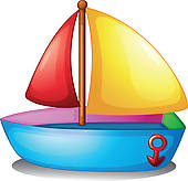 Toy Boat Clipart.