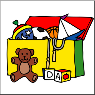 Clip Art: Toy Chest Color I abcteach.com.