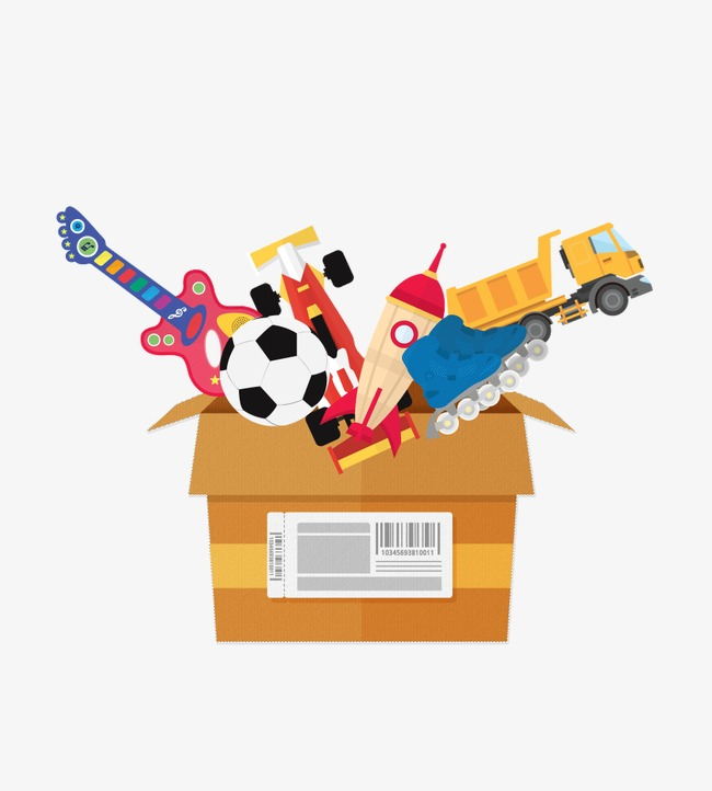 Toy Box, Cartoon, Toy, Box PNG Image And #170419.