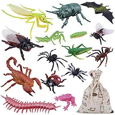 15PCS Bug Toy Figures Giant Insects Playset for Kids.