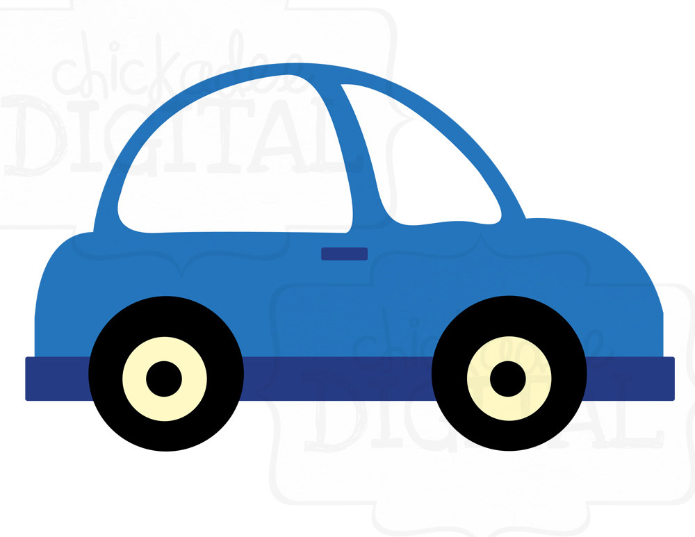 Blue Toy Car Clipart.