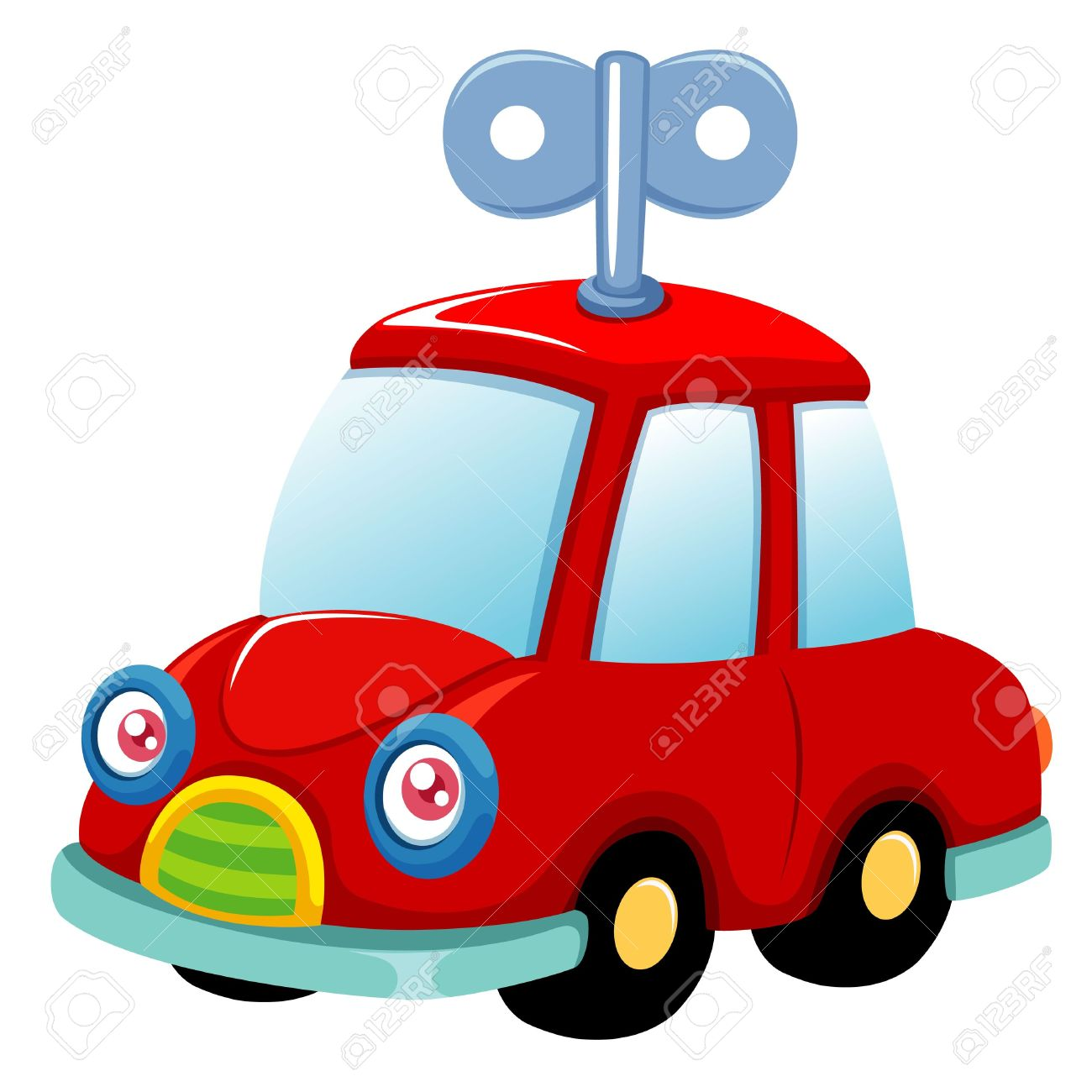 Red toy car clipart.