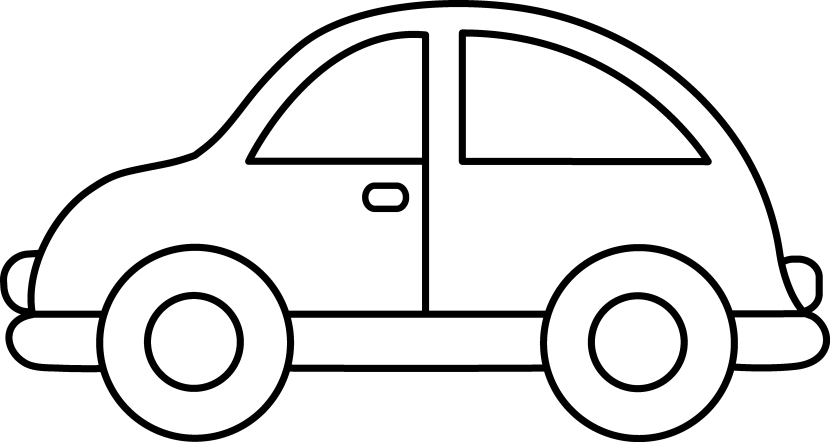 Toy car clip art black and white.