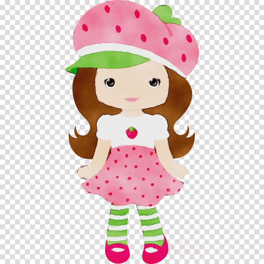 cartoon pink clip art toy doll clipart.