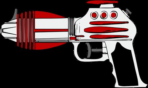 Child toy gun vector clip art.
