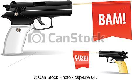 Vectors Illustration of Toy gun.