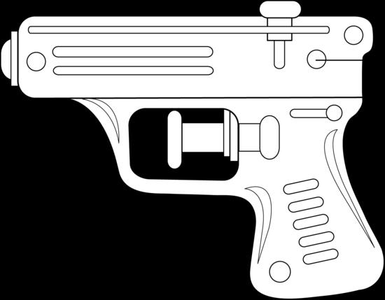 Squirt Gun Line Art.