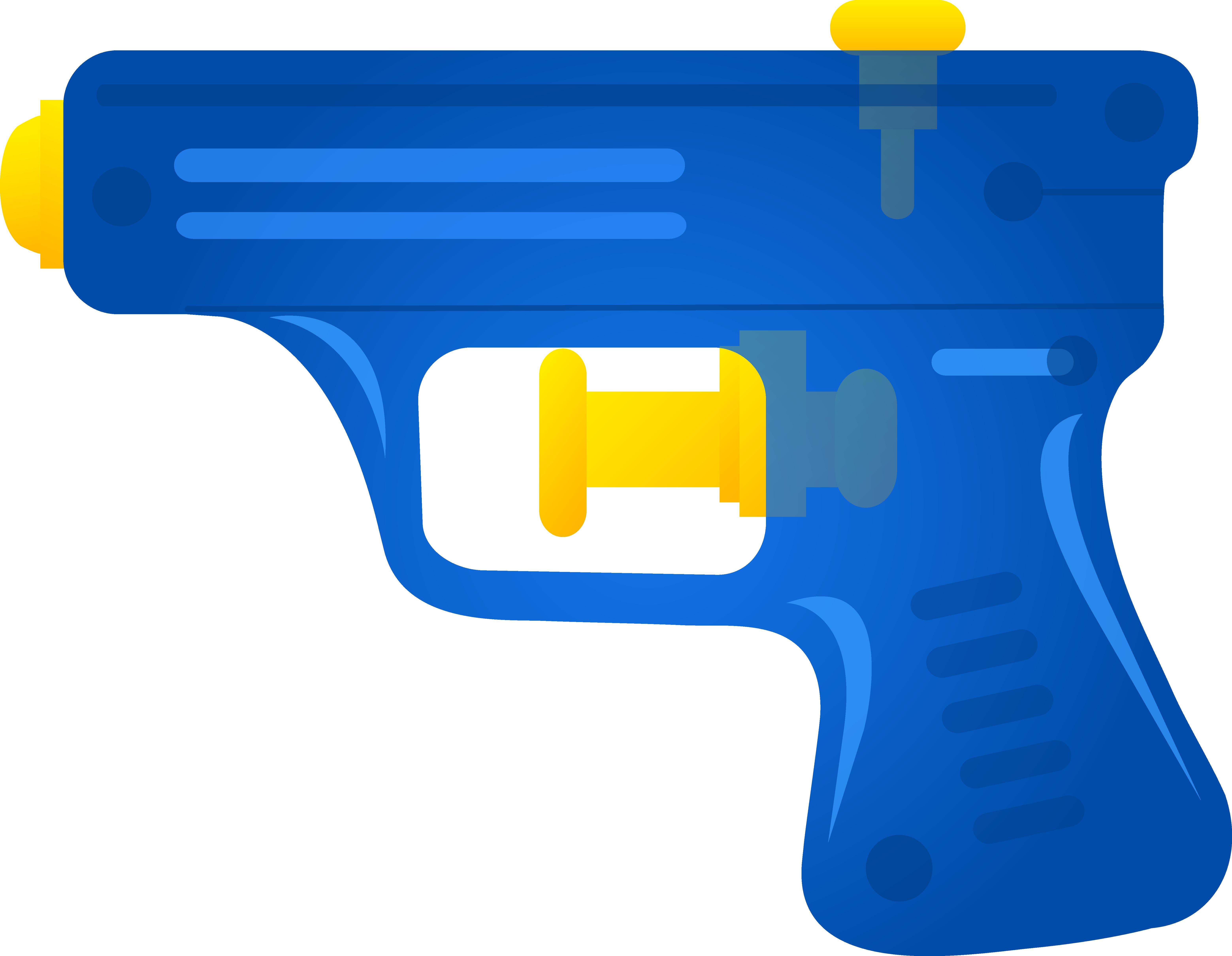 Blue Toy Squirt Gun.